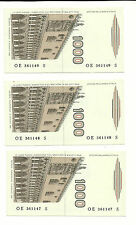 ITALY LOT 3X P-109 1000 LIRE 1982 CONSECUTIVE PARTNER UNCIRCULATED 3 NOTES