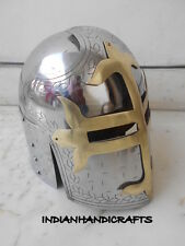 NEW COLLECTIBLES SUGAR LOAF HELMET REPLICA HELMET WITH MASONS BRASS CROSS