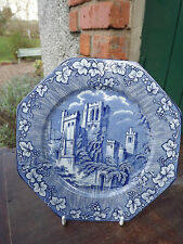 Vintage Tams Ware Blue & White Plate Ye Olde Priory Fully Stamped