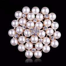 SPILLA PERLE 4,5CM - PEARL FLOWER BOUQUET BROOCH WEDDING PARTY PIN BROACH