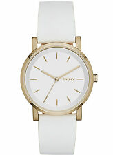 NEW DKNY NY2340 Soho White Leather Strap Women's Watch