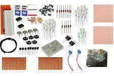 Bread Board kit Ferric Chloride PCB Kit Resisters capacitors Diode LEDs Battery