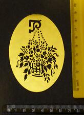 Brass/stencil/Oval/Hanging/Basket/Spring/Summer/Floral/Flower/Leaf/Emboss