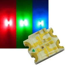 10 RGB SMD LEDs 1206 / mini Led 3-Chip rot-grün-blau STEUERBAR Smds MULTICOLOR