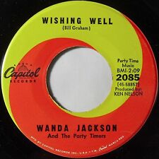 WANDA JACKSON: WISHING WELL rockabilly CAPITOL ~ CLEAN 45 killer HEAR IT