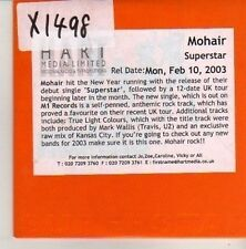 (CN15) Mohair, Superstar - 2003 DJ CD