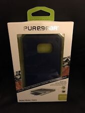 PureGear DualTek Pro Case for Samsung Galaxy S6 Edge+ Blue / Clear Same Day Ship
