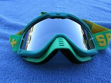 "SPY OPTIC ""WHIP"" adult men's motocross MX goggles Green w/ Silver Mirrored lens"