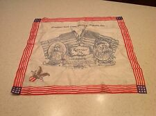 World War I Antique Handkerchief  Military Sweetheart Remember Camp Hancock GA