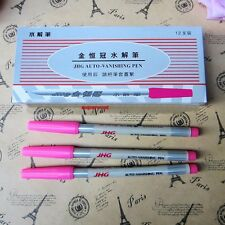 12 X Water Erasable Fabric Marker Marking Ink Pens Craft Textile Patchwork Pink