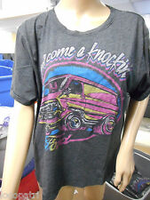 Womens Juniors Junk Food Ford Don't Come A Knockin' Shirt New XL