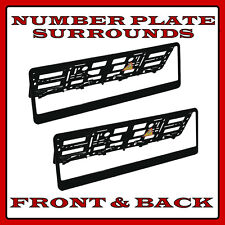 2x Number Plate Surrounds Holder Black ABS for Smart Fortwo Cabrio