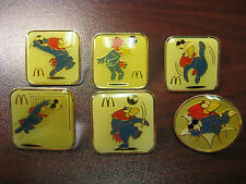 McDonald's WOrld Cup France 1998 6 Pin Set-Soccer