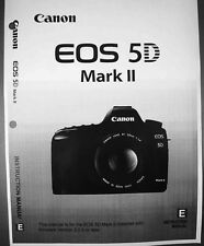 Canon EOS 5D Mark II Digital Camera User Instruction Guide  Manual
