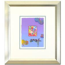 PETER MAX ORIGINAL Signed mixed media ACRYLIC PAINTING PROFILE SERIES FRAMED COA