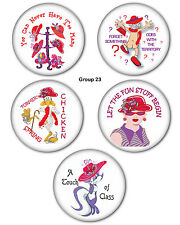 "200 3"" BUTTON & MAGNETS FAVORS GIFTS FOR RED HAT LADIES OF SOCIETY"