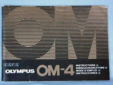 OLYMPUS OM-4 OPERATING INSTRUCTIONS MANUAL