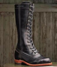 NEW Wolverine 1000 Mile Sophia 12 Black Leather Vintage Boots W00349 Women's 5