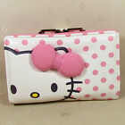 HelloKitty Hasp Wallet Purse 2016 New Cute Pu Bow Pink Middle Size