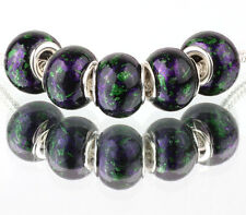 5pcs Creative MURANO bead LAMPWORK For European Charm Bracelet #F426