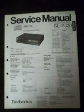 Technics Service Manual for the SL-PJ20 CD Changer Player