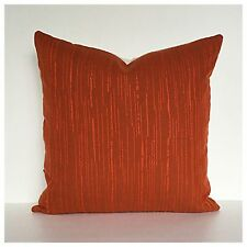 "Cushion Cover Vintage 70s Burnt  Orange Fabric 16"" x 16"" VW Mid Century"