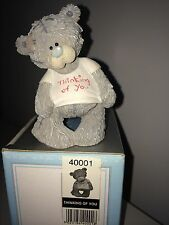 "LARGE 9cm 3.5"" HIGH BOXED ME TO YOU FIGURINE TATTY TEDDY BEAR ~ THINKING OF YOU"