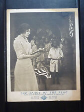 1913 SPIRIT OF THE FLAG - RARE VERTICAL LOBBY CARD - SILENT SHORT -  PHILIPPINES
