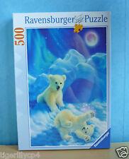 Puzzel van ravensburger spelende ijsberen 500 stuks