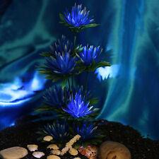 Aquarium Deko künstliche Pflanze mit Blumen Aquarien Aquariumsdeko Fisch Plants