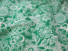 Green Floral Crepe De Chine Printed Dress Fabric. Price Per Metre!