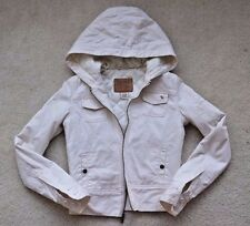 Woman Abercrombie & Fitch Hooded Jacket, Cream, Size S