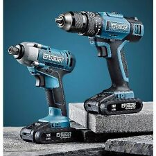 ERBAUER ER1619KIT 18V 2.0AH CORDLESS TWIN PACK COMBI DRILL & IMPACT DRIVER