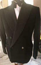 Vintage Hector Powe 1950s Shawl Collar Black Tuxedo Jacket Medium UK 38 EU 48