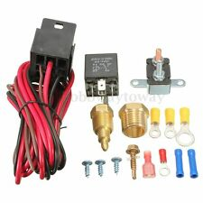 185~200 Degree Engine Cooling Fan Thermostat Temperature Switch Sensor Relay Kit