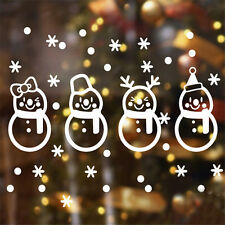 Merry Christmas Vinyl Wall Sticker Snowman Snowflake Decals Home Window Decor