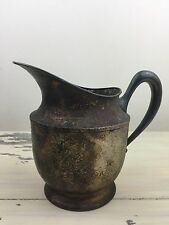 TABER & TIBBITS: Vtg Antique T&T Hand Hammered Silver Plate Water Pitcher 420 66