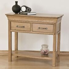 TOULON Solid Oak Furniture DUE CASSETTI CONSOLE Hall tabella
