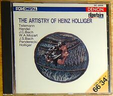 The Artistry of HEINZ HOLLIGER cd DENON/NIPPON 1987 MINT SUPER NICE DC-8006