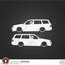 (827) 2x Low and Slow VW Golf MK 3 Variant Sticker Aufkleber DUB VAG Stickerbomb
