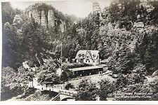 24053 AK Sächsische Schweiz Polenztal Restaurant Waltersdorfer Mühle 1934