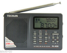 TECSUN PL-606 (Grey Color) PLL DSP Radio FM/MW/SW       ENGLISH VERSION