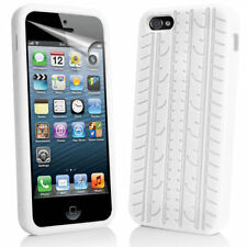 TYRE THREAD SOFT SILICONE BACK RUBBER GEL SKIN CASE COVER FOR APPLE IPHONE 5 5S