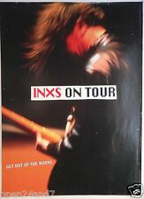 """INXS """"GET OUT OF THE HOUSE TOUR"""" U.S. PROMO POSTER FROM 1993 - Guitarist Playing"""