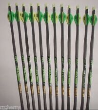 12 Gold Tip XT Hunter 7595 340 Carbon Arrows w/ Bohning Blazer Vanes! WILL CUT!