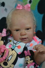 Ooak Reborn newborn real life  baby girl Lucy   Baby  art doll
