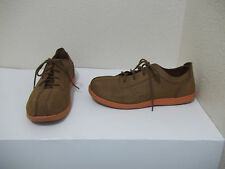 MENS CROCS  BROWN LEATHER CASUAL LACE UP OXFORD SHOES SZ 11