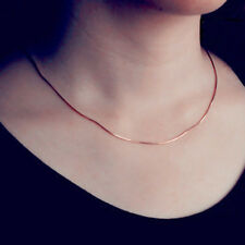 Rose Gold over Plated silver  Thin Italian Cable Chain Necklace DIS