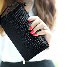 Black Women Lady Zip Messenger PU Leather Handbag Purse Make Up Bag