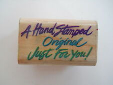 """Posh Impressions Rubber Stampede  """"A Hand Stamped Original Just For You!"""" Used"""